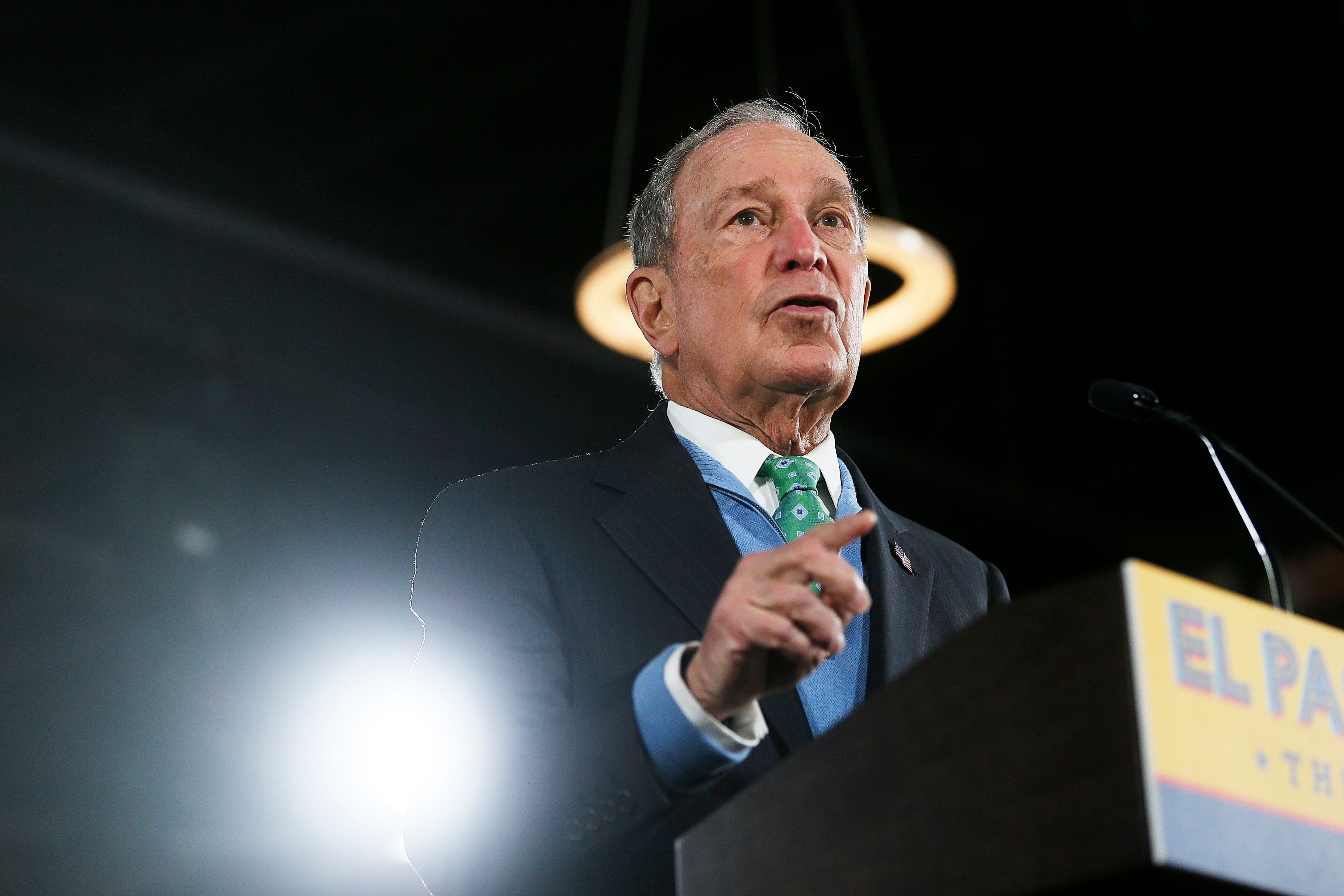 US billionaire and philanthropist Mike Bloomberg during his short-lived presidential primary campaign. Reuters